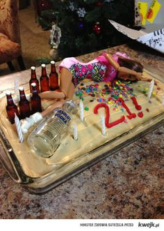 Drunk Passed Out Barbie Doll Wild Party Happy Birthday Cake . Here is Barbie years later after getting hammered from a wild birthday party. Happy 21st Birthday, Birthday Parties, Funny Birthday, Cake Birthday, Happy Birthdays, 21st Birthday Gifts For Best Friends, 21st Birthday Basket, 21st Bday Cake, Birthday Beer