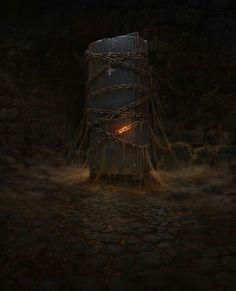 Ancient Vampire Coffin well wrapped dungeon underdark