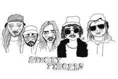 Sticky Fingers Band, Hippie Bands, Finger Band, Band Photography, Music Aesthetic, Modern Artists, Musical, Wall Collage, Cool Bands