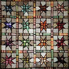 Take a simple quilt idea, add black, and POOF, stained glass window!  Wow!