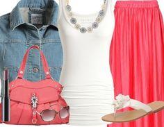#OdW #stylefruits #maxiskirt #jeans jacket