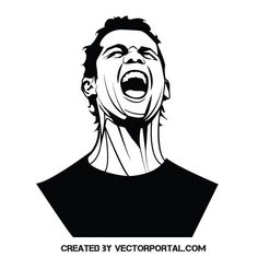 Stencil Art, Stencil Designs, Stencils, Football Art, Football Players, Free Vector Illustration, Vector Art, Cristiano Ronaldo, Messi Drawing