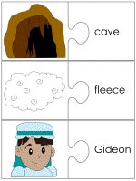 Free printable jigsaw piece matching worksheets to go with the Bible story about Gideon. Sunday School Projects, Sunday School Activities, Gideon Bible, Toddler Bible Lessons, Bible Study For Kids, Christian Crafts, Christian School, Bible Crafts, Kids Church