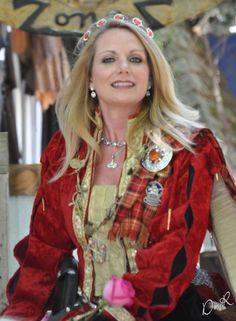 Queen Margaret of Scotland (Margaret Tudor) played by Janna Zepp at Scarborough Renaissance Festival.