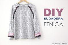 DIY ropa Sudadera Étnica