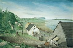 Thomas Davies, A View of the Château-Richer, Cape Torment, and Lower End of the Isle of Orleans near Quebec, 1787, Watercolour on laid paper, 35.4 x 52.7 cm, National Gallery of Canada, Ottawa, Photo © NGC
