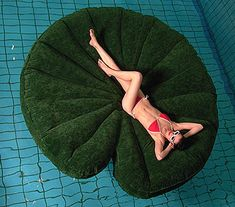 Eight Feet Round Inflatable Lily Pad Raft - want one.