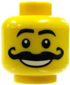 pin the moustache on the lego man