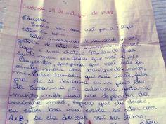 carta da regilaine para mim. 1988.