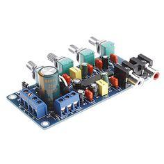 Circuito de controle de tons utilizando integrado LM1036N da Texas Instruments, com ajuste Graves (Bass), Agudos (Treble), Volume, Loudness e Balance, para ser implementado em seu projeto de amplificador de áudio. O CI LM1036 tem todo o circuito para seu projeto de controle de tons estéreo controlado por tensão. Características  Trabalha com fontes de alimentação de 12 a 24 volts DC Grande alcance no controle de volume , 75 dB típico Controle de tons , ±15 dB típico Separação entre canais…