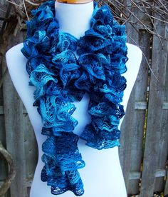 Crochet Ruffle Scarf (Girls) Ruffle Scarf, Crochet Ruffle Scarf and ...