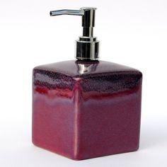 Seifenspender Design Keramik mit Pumpe violett