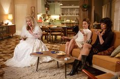 Sophie Hambleton as Carol O'Driscoll, Esther Stephens as Ngaire Munro and Antonia Prebble as Rita West in Westside