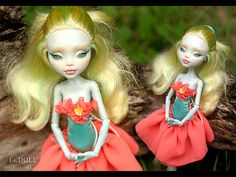 Monster High Repaint Art Doll OOAK Lagoona Amber by ItheDoll