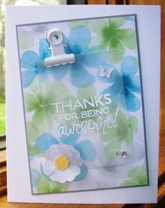 Card by Twinlynn using Being Awesome from Verve.  #vervestamps