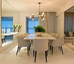 Sala de jantar clean e sofisticada. Amei❣️ Projeto Aline Cangussu Me encontre também no @pontodecor {HI} Sna