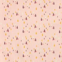 Bomuld rosa m lilla/pudder/karry dråber