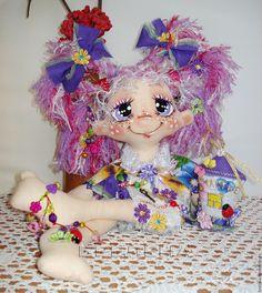 Купить Текстильная кукла Домовушка Фиалочка. - кукла, текстильная кукла, купить куклу, кукла в подарок