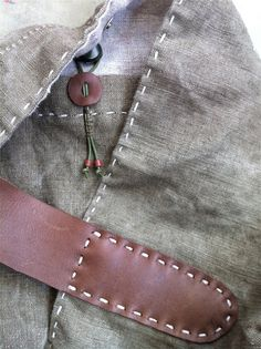 The Driftwood Slouch - Handcrafted Vintage Belgian Linen Bag