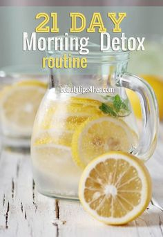21 Day Morning Detox Routine for Gorgeous Skin | DIY Beauty Skincare and Health Tips