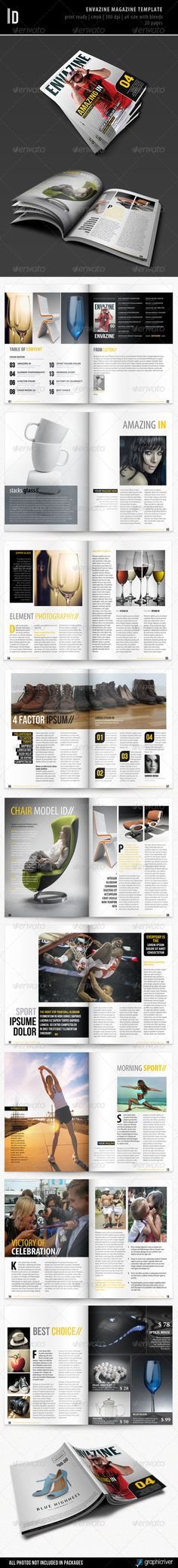 Template By Kartodarim On GraphicRiver Envazine Magazine Suitable For Any Type Of Business Features 20 Pages Size Bleed 3 Mm Print R