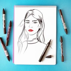 #illustration #beauty #portrait #sketch #sketchbook