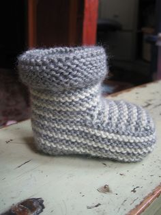 Striped Knitted Booties Free Knitted Pattern on our Site