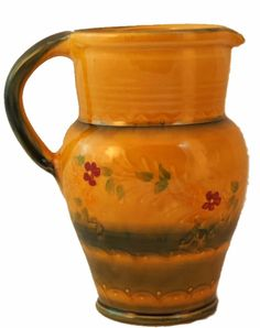 Rustic French Pottery Water Pitcher