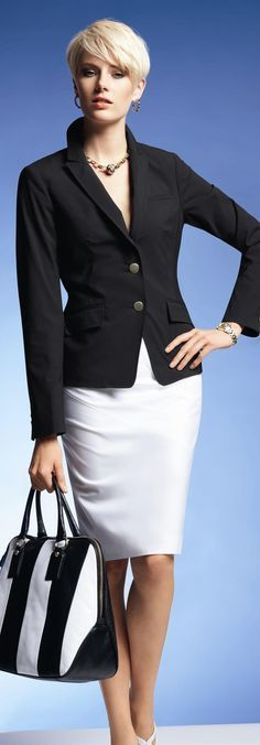 Madeleine black and white smart outfit
