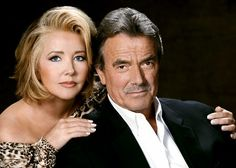 Melody Thomas Scott and Eric Braeden star as Nikki Reed Newman and Victor Newman on The Young and the Restless. Soap Opera Stars, Soap Stars, Nikki Reed, Bold And The Beautiful, Beautiful People, Victor Newman, Eric Braeden, Famous Couples, Tv Couples