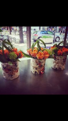 Composition tulipes