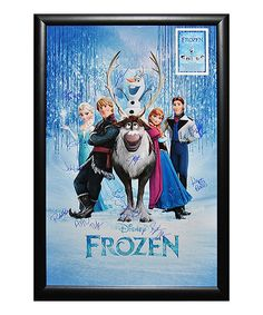 Look what I found on #zulily! Frozen Autographed Framed Poster by Luxe West Inc #zulilyfinds