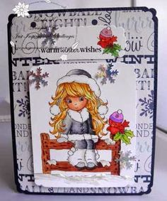 Winter Christmas, Holiday, Copics, I Card, Ladybug, Bugs, Children, Stamping, Fictional Characters