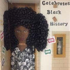 Black History Month door decor#teacherlife