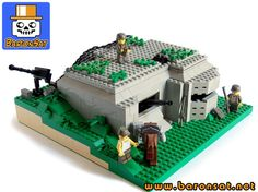Lego WW2 bunker I like the landscaping on this.