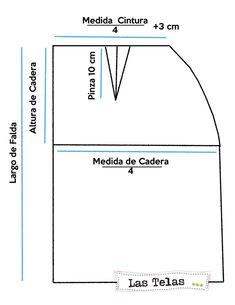 patron falda tubo