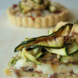 Courgette, Prosciutto di Parma and Taleggio Tart with Polenta Pastry | Anne's Kitchen