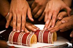 Punjabi chuda ceremony with bangles where all the brides brothers put it on her !