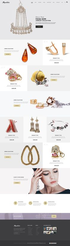 Shopaholic is a Professionally designed eCommerce PSD Template comes with 11 stunning homepage layouts. #Jewelry #psdtemplate