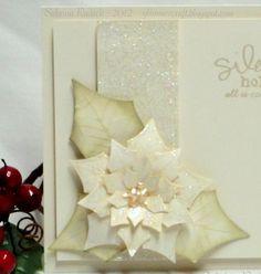 Aspiring to Creativity: November Monochromatic Christmas Cards
