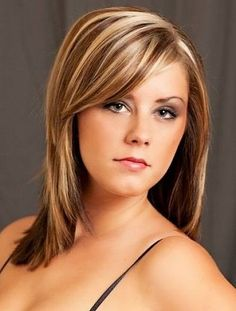 light brown hair with blonde highlights medium length - Google Search