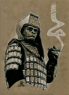 Everything about the mighty PLANET OF THE APES saga, from the original novel, via the classic films of the and right up to the 2011 reboot. Fiction Movies, Science Fiction, Plant Of The Apes, Cinema Posters, Michael Myers, Pulp Art, Original Movie, Classic Films, Horror Art