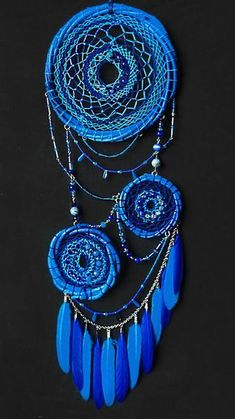 Blue asymmetric dream catcher with the name Stairway to Heaven. A lot of beads and beads, an unusual shape. The height of the dream catcher is 47 centimeters, the width is 18 centimeters. Clay Pot Crafts, Shell Crafts, Crafts To Make, Dream Catcher Bedroom, Dream Catcher Decor, Old Wine Bottles, Wine Bottle Crafts, Dream Catcher Tutorial, Beautiful Dream Catchers
