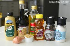 Homemade Balsamic Vinaigrette - parts of this could be a great steak marinade, too.