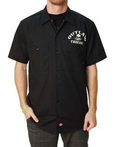 Outlaw Threadz Men's Ground Pounder Dickies Button Up Shirt