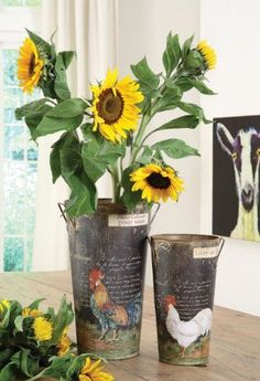 Casual Country Roosters Tin French Flower Buckets Set by Creative Co-op, http://www.amazon.com/dp/B009S99QU4/ref=cm_sw_r_pi_dp_DjJrrb19PYF9A