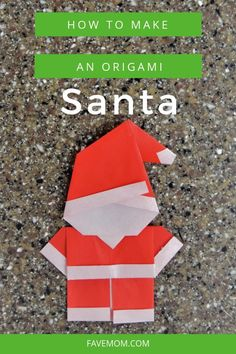 Christmigami: Paperfold and Easy Santa Christmas Origami Santa Step by Step tutorial with video instructions. Easy to make for Christmas and the holiday party. Origami Ball, Instruções Origami, Origami Yoda, Origami Star Box, Origami Envelope, Origami Fish, Origami Bookmark, Origami Folding, Santa Origami