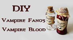 DIY: Pote Sangue e Dentes de Vampiro (Vampire Blood and Vampire Fangs Halloween Bottle Charm)