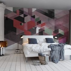Photo mural of Fractal, red Interior