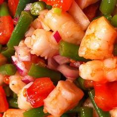 Muffi's Famouse Shrimpy Beanie Salad on BigOven: This is a great summer recipe. It is a pretty and colourful dish that is lovely to take to any pot luck. It makes a wonderful appetizer salad but is also hearty enough for a light lunch. It has been a favorite in our house for decades.